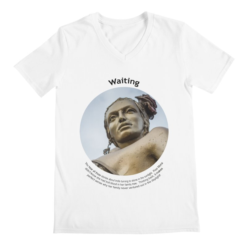 Waiting Men's V-Neck by Hogwash's Artist Shop