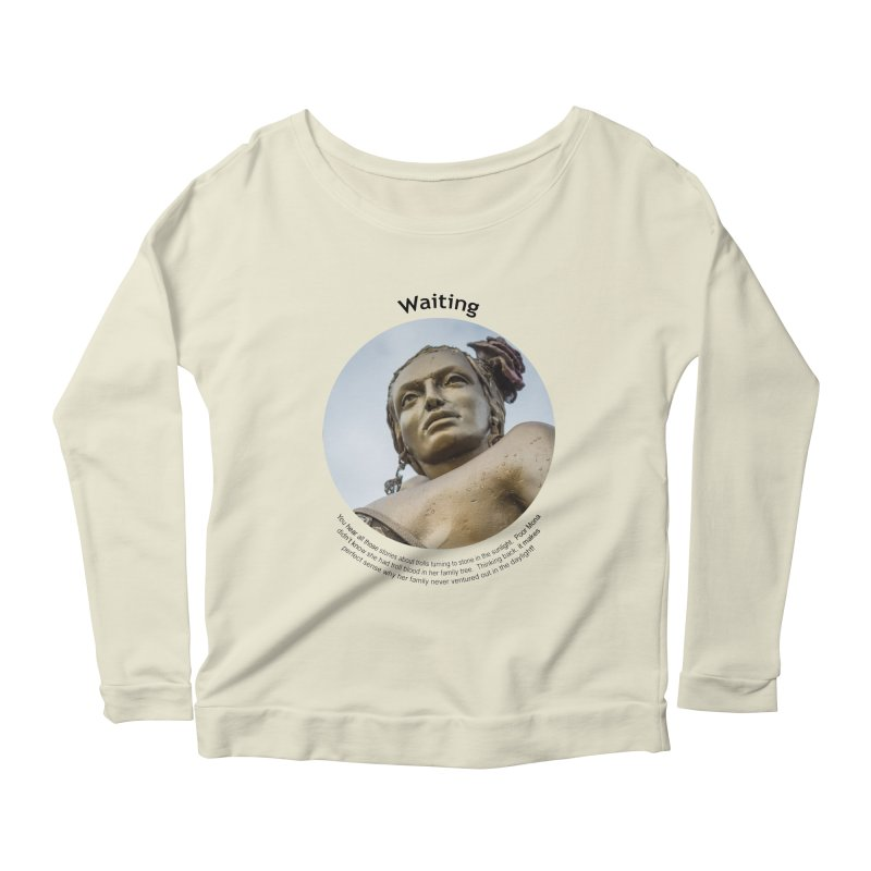 Waiting Women's Longsleeve Scoopneck  by Hogwash's Artist Shop