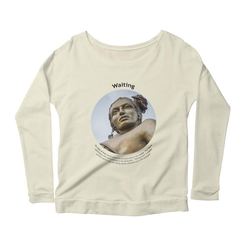 Waiting Women's Scoop Neck Longsleeve T-Shirt by Hogwash's Artist Shop