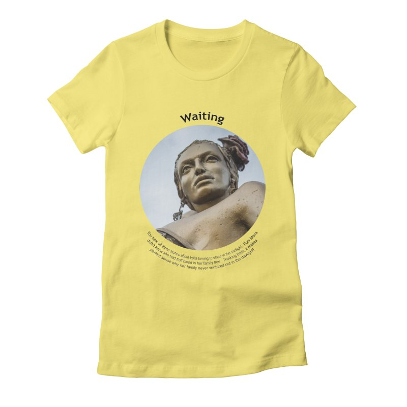 Waiting Women's Fitted T-Shirt by Hogwash's Artist Shop