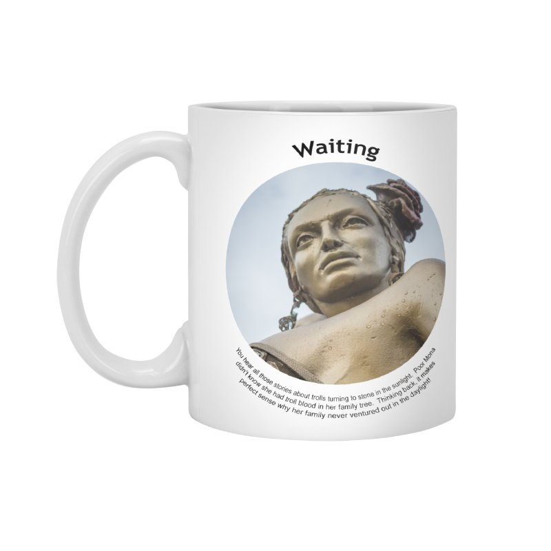 Waiting Accessories Standard Mug by Hogwash's Artist Shop