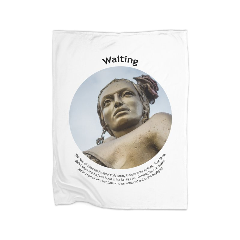 Waiting Home Fleece Blanket Blanket by Hogwash's Artist Shop