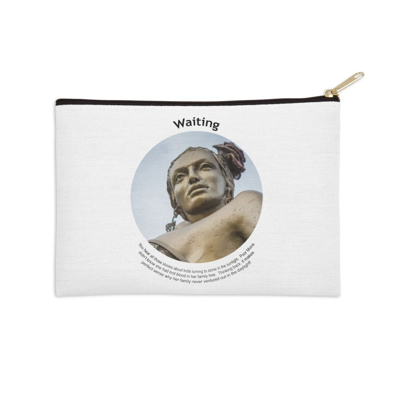 Waiting Accessories Zip Pouch by Hogwash's Artist Shop