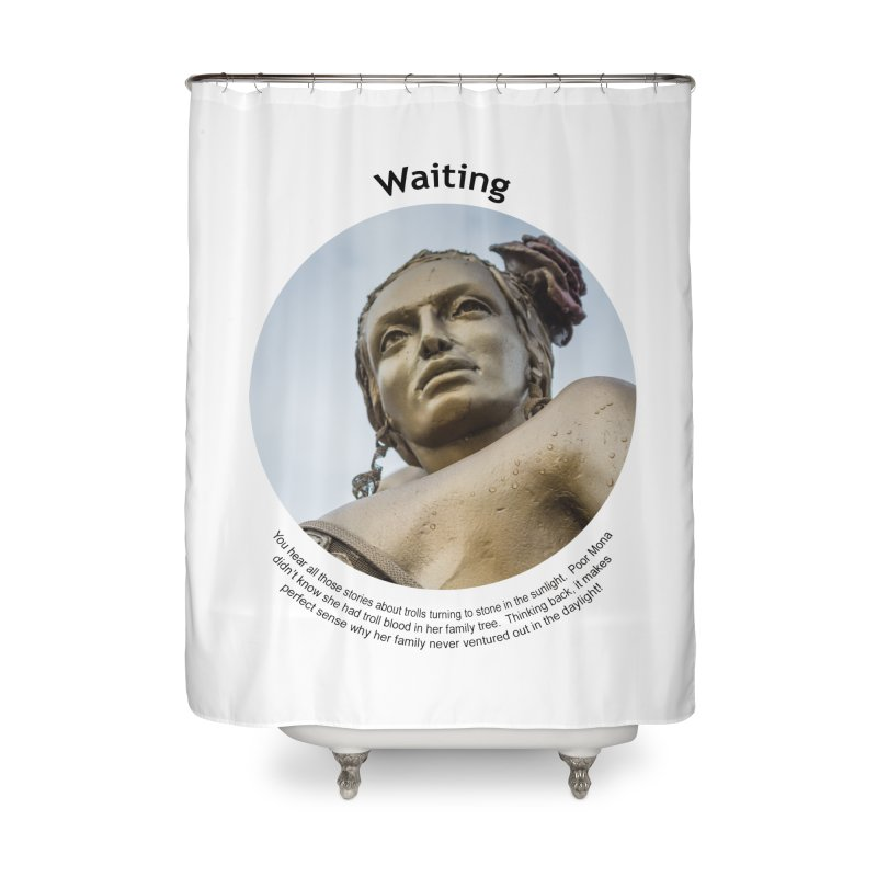 Waiting Home Shower Curtain by Hogwash's Artist Shop