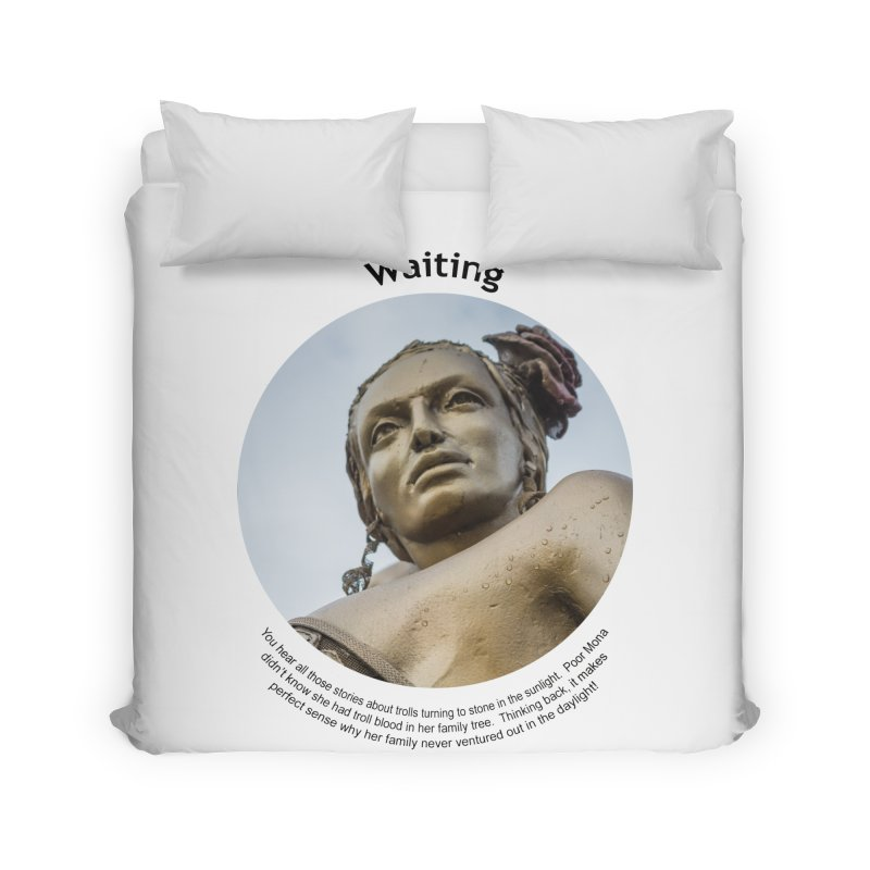Waiting Home Duvet by Hogwash's Artist Shop