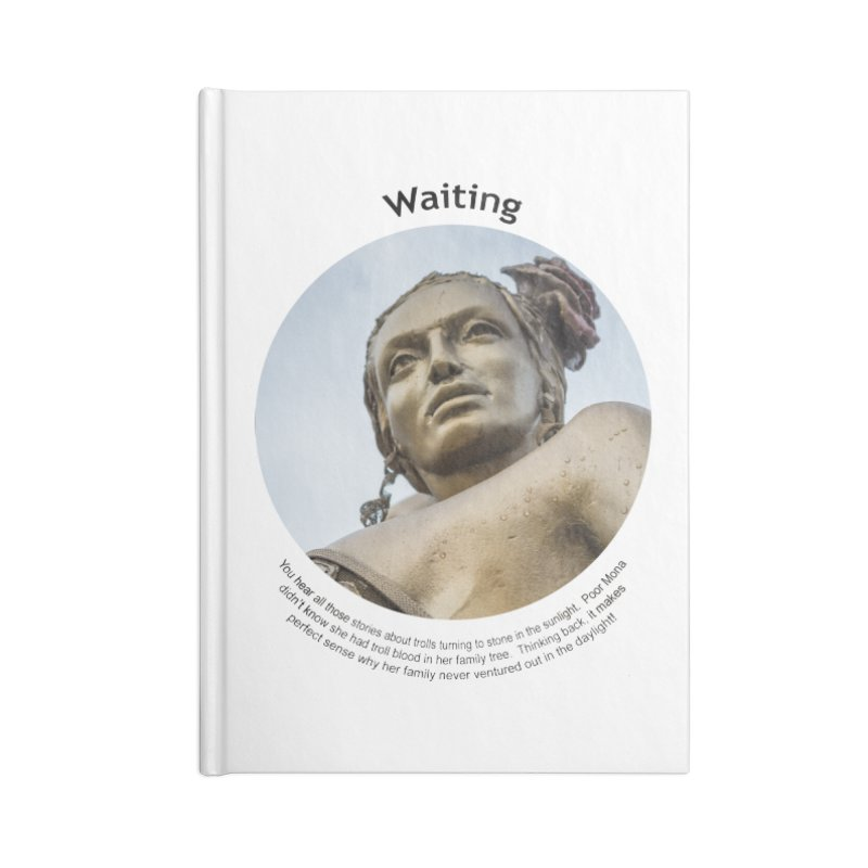 Waiting Accessories Lined Journal Notebook by Hogwash's Artist Shop