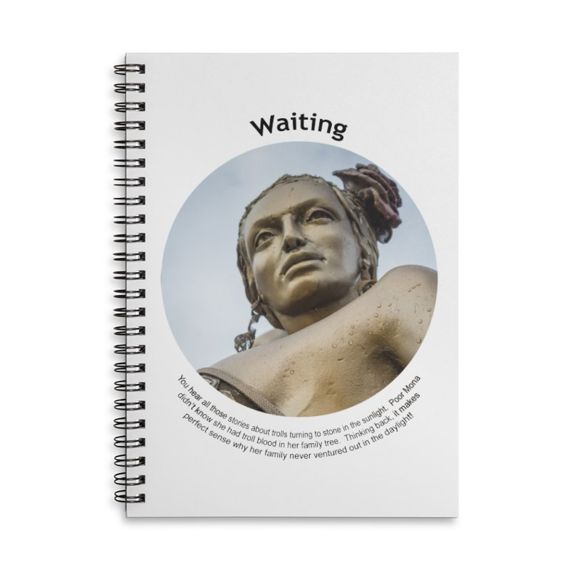 Waiting Accessories Lined Spiral Notebook by Hogwash's Artist Shop