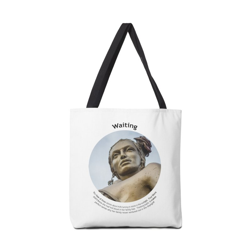 Waiting Accessories Tote Bag Bag by Hogwash's Artist Shop