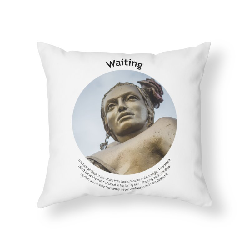Waiting Home Throw Pillow by Hogwash's Artist Shop