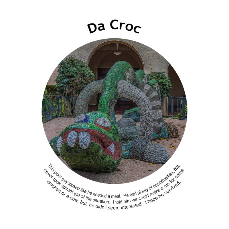 Da Croc Home Blanket by Hogwash's Artist Shop