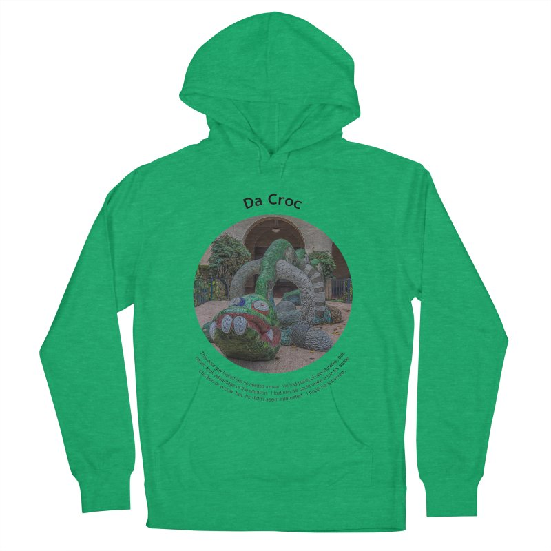 Da Croc Men's French Terry Pullover Hoody by Hogwash's Artist Shop