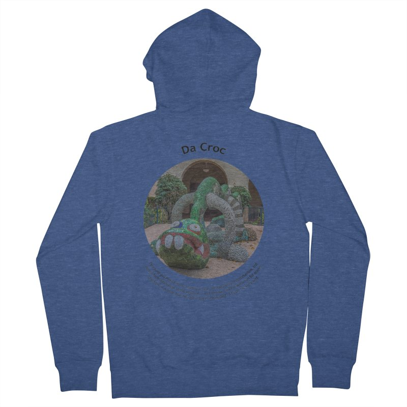 Da Croc Men's Zip-Up Hoody by Hogwash's Artist Shop