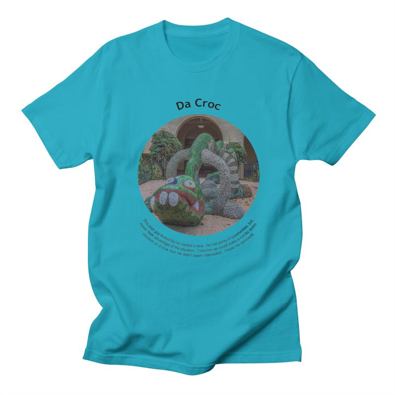 Da Croc Men's Regular T-Shirt by Hogwash's Artist Shop