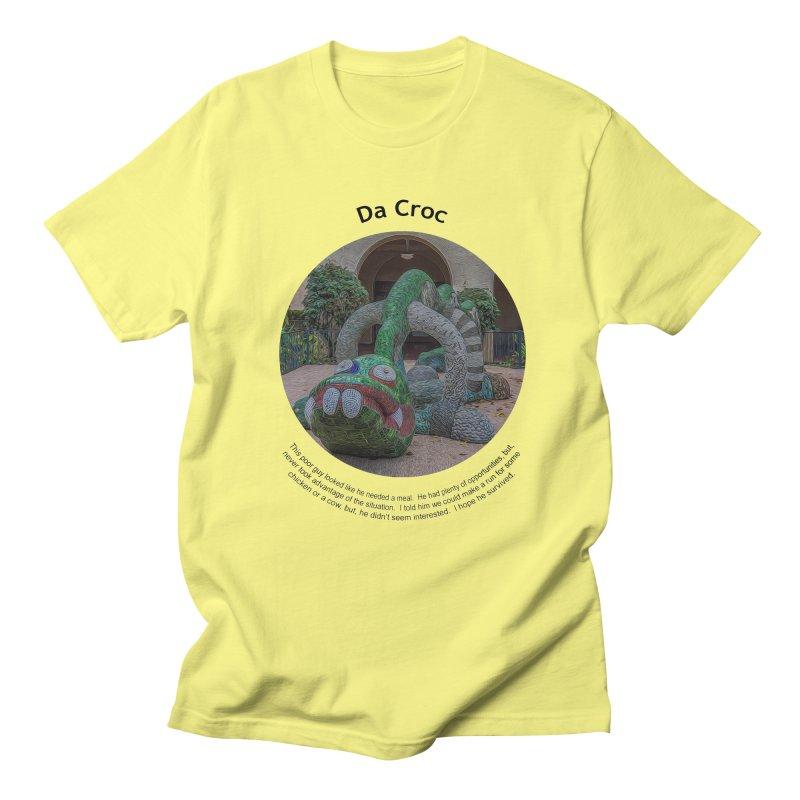 Da Croc Men's T-Shirt by Hogwash's Artist Shop