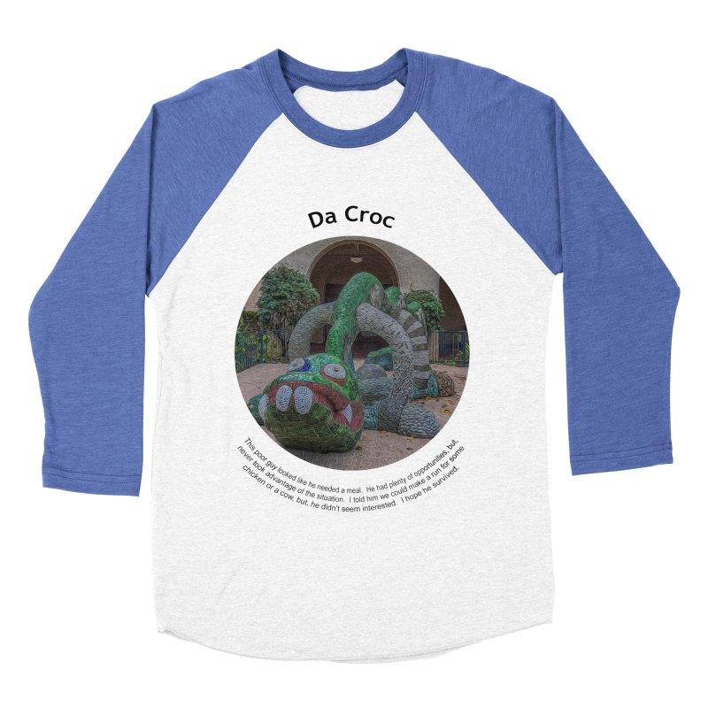 Da Croc Women's Baseball Triblend Longsleeve T-Shirt by Hogwash's Artist Shop