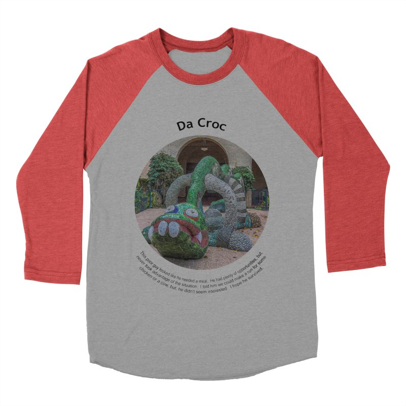 Da Croc Women's Baseball Triblend T-Shirt by Hogwash's Artist Shop
