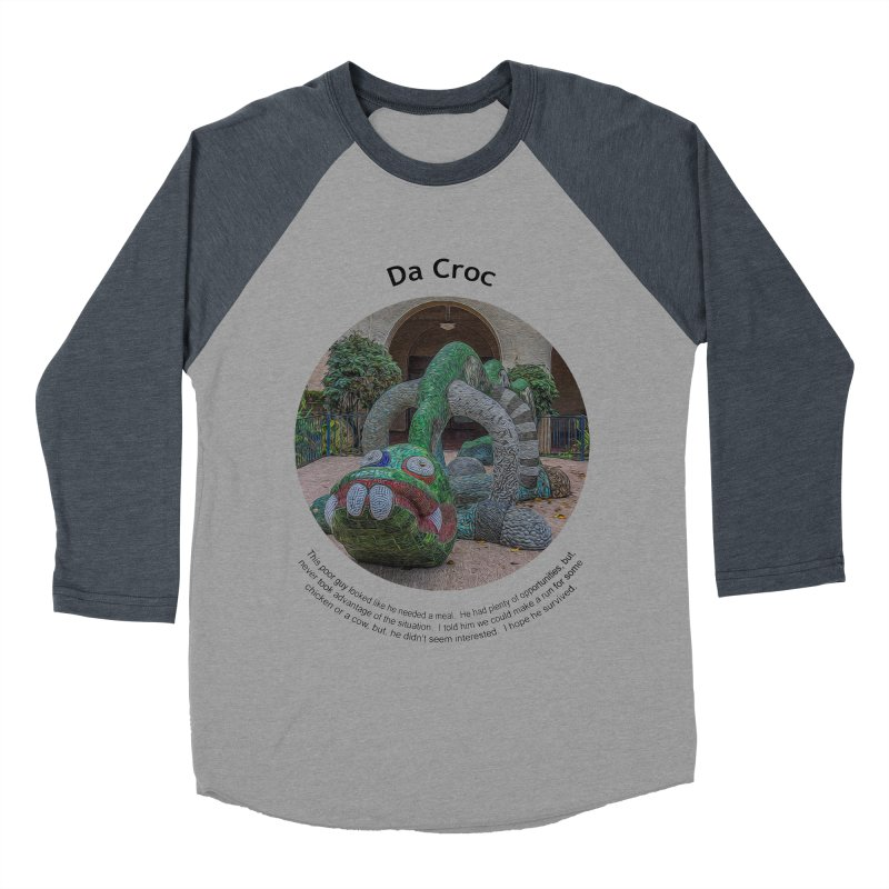 Da Croc Women's Baseball Triblend Longsleeve T-Shirt by Hogwash's Artist Shop
