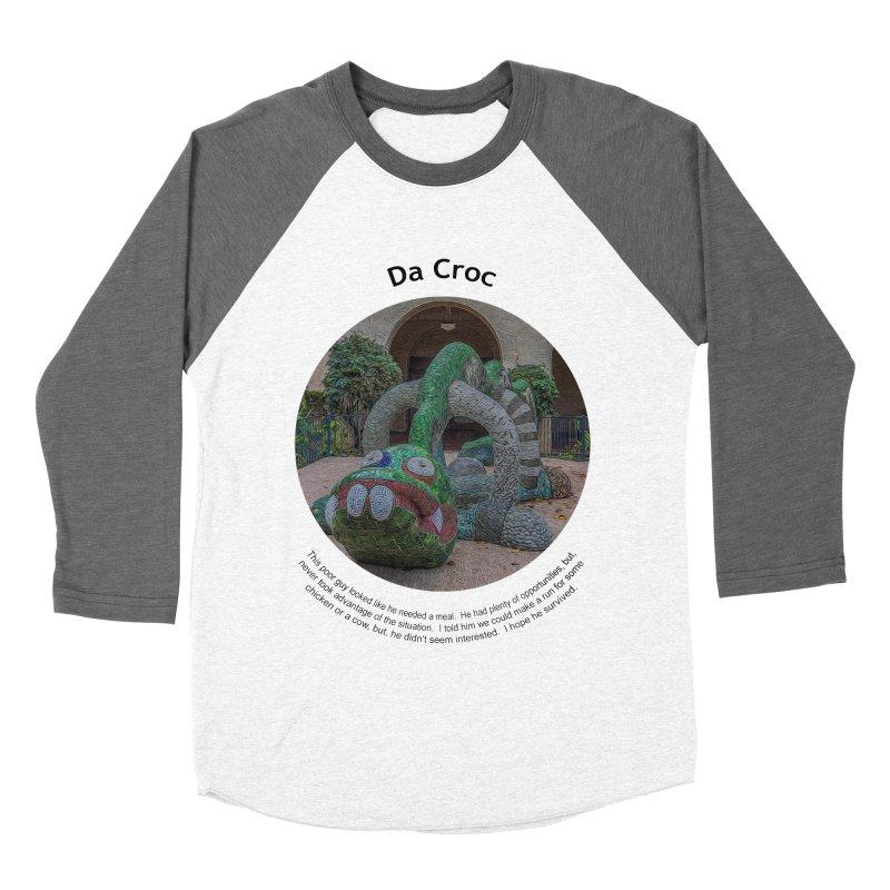 Da Croc Men's Baseball Triblend Longsleeve T-Shirt by Hogwash's Artist Shop