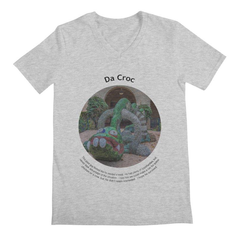 Da Croc Men's V-Neck by Hogwash's Artist Shop