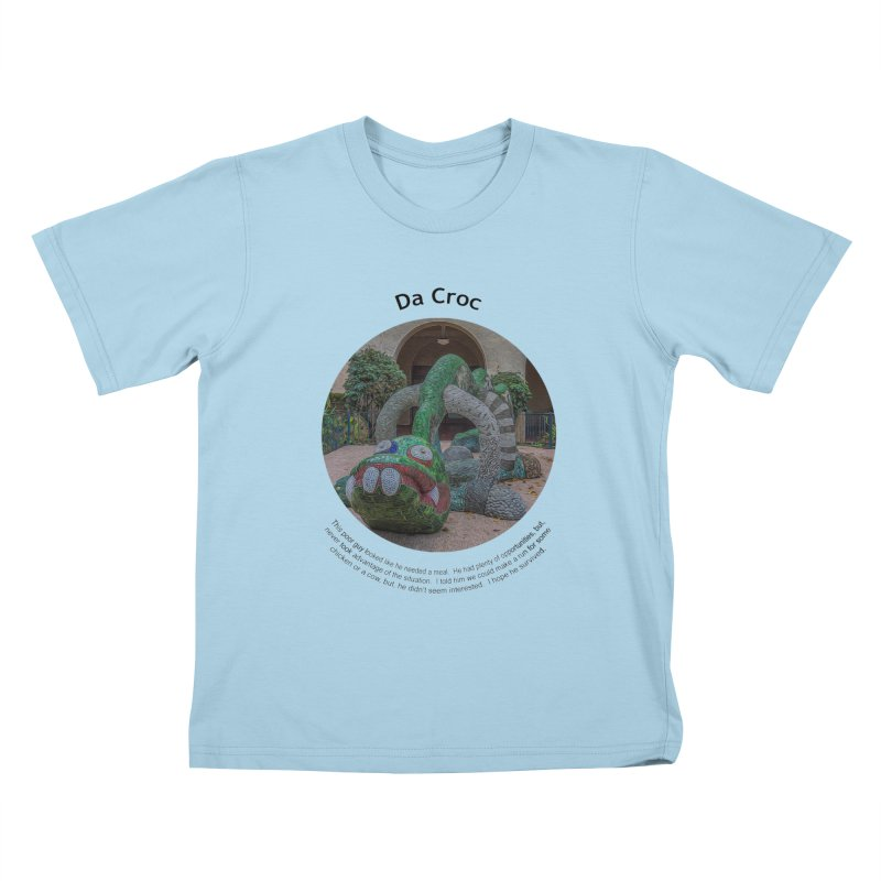 Da Croc Kids T-Shirt by Hogwash's Artist Shop