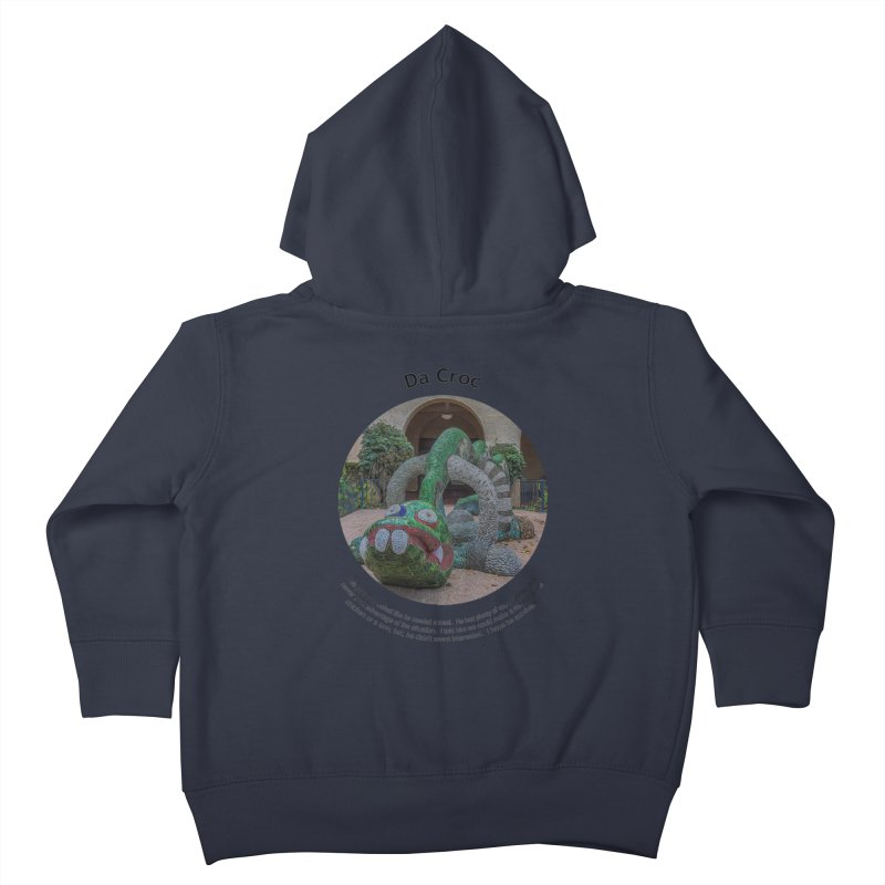 Da Croc Kids Toddler Zip-Up Hoody by Hogwash's Artist Shop