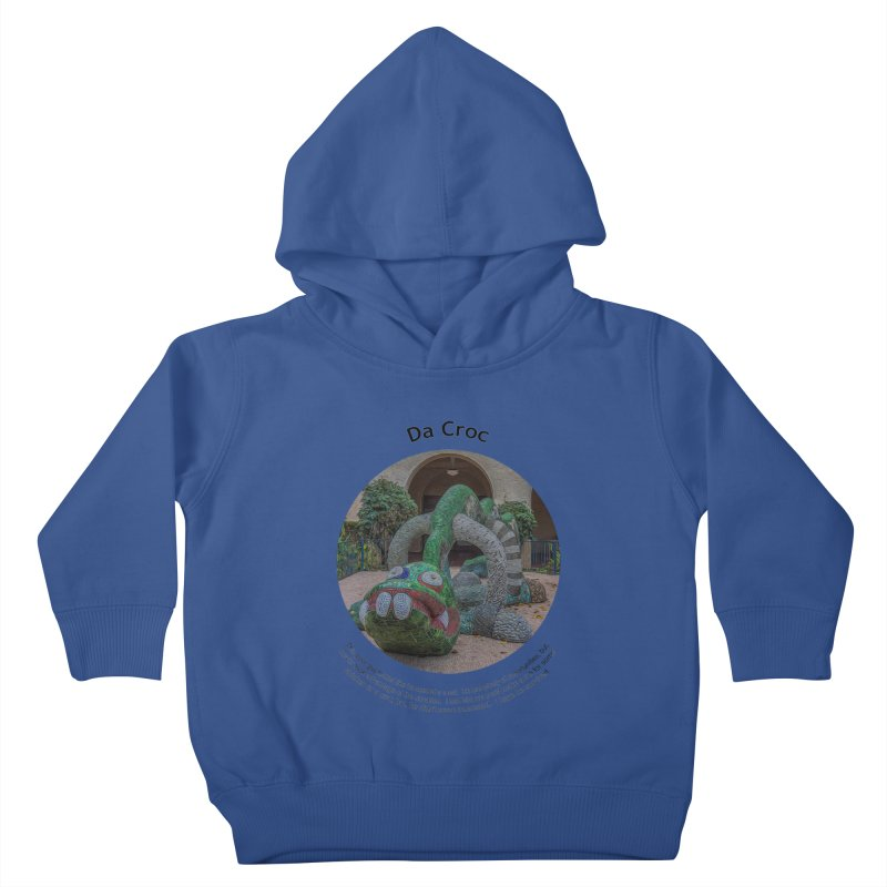 Da Croc Kids Toddler Pullover Hoody by Hogwash's Artist Shop