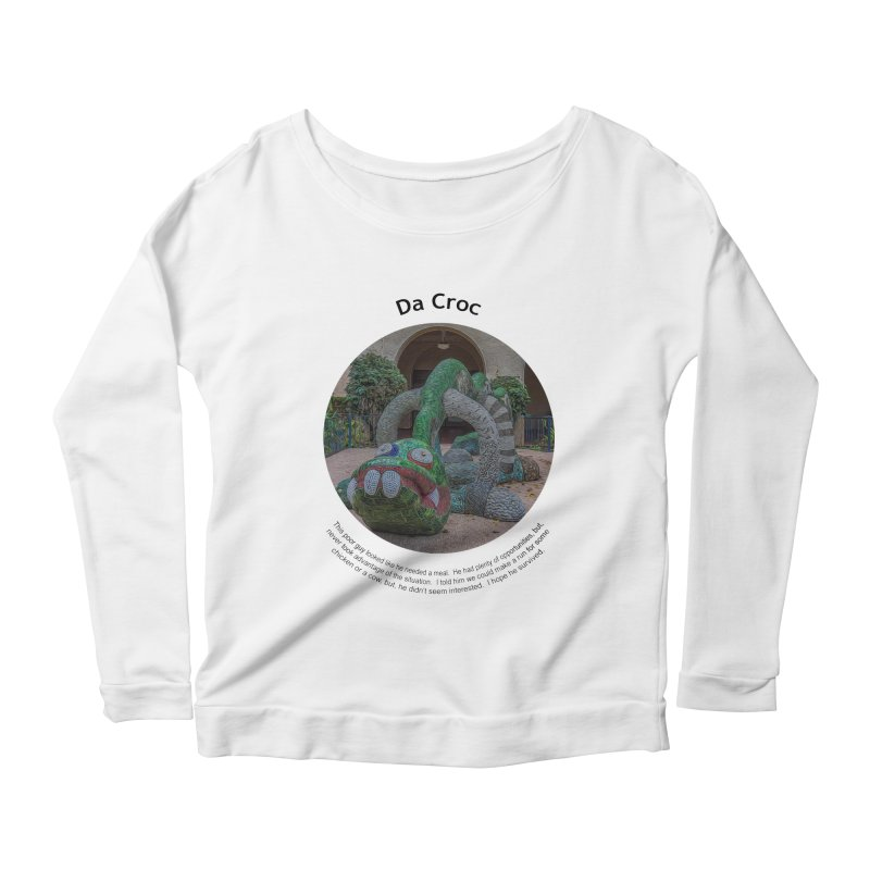 Da Croc Women's Longsleeve Scoopneck  by Hogwash's Artist Shop
