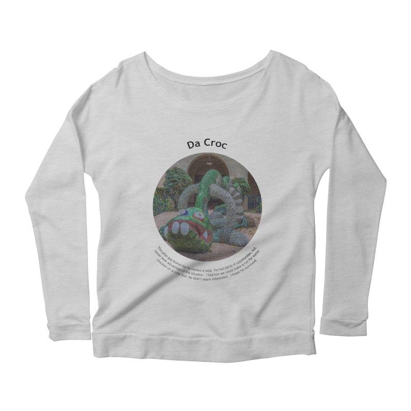 Da Croc Women's Scoop Neck Longsleeve T-Shirt by Hogwash's Artist Shop