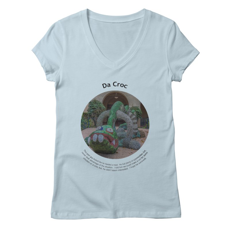 Da Croc Women's V-Neck by Hogwash's Artist Shop