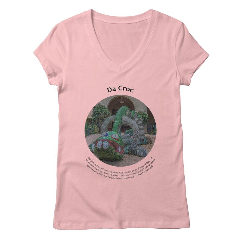 Da Croc Women's Regular V-Neck by Hogwash's Artist Shop