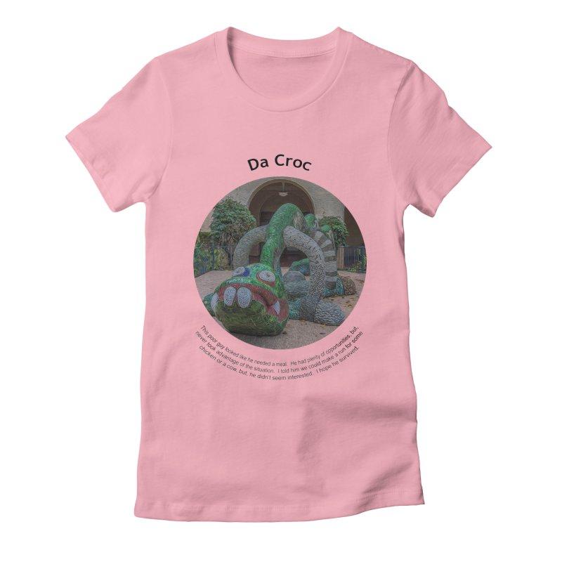 Da Croc Women's Fitted T-Shirt by Hogwash's Artist Shop