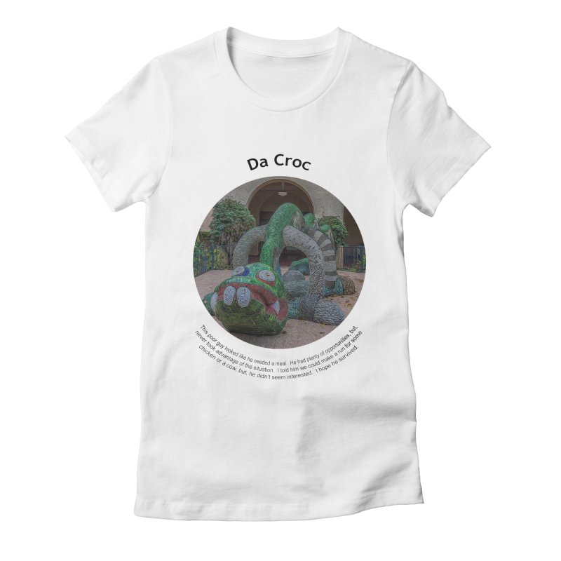 Da Croc Women's Fitted T-Shirt by Hogwash's Artist Shop
