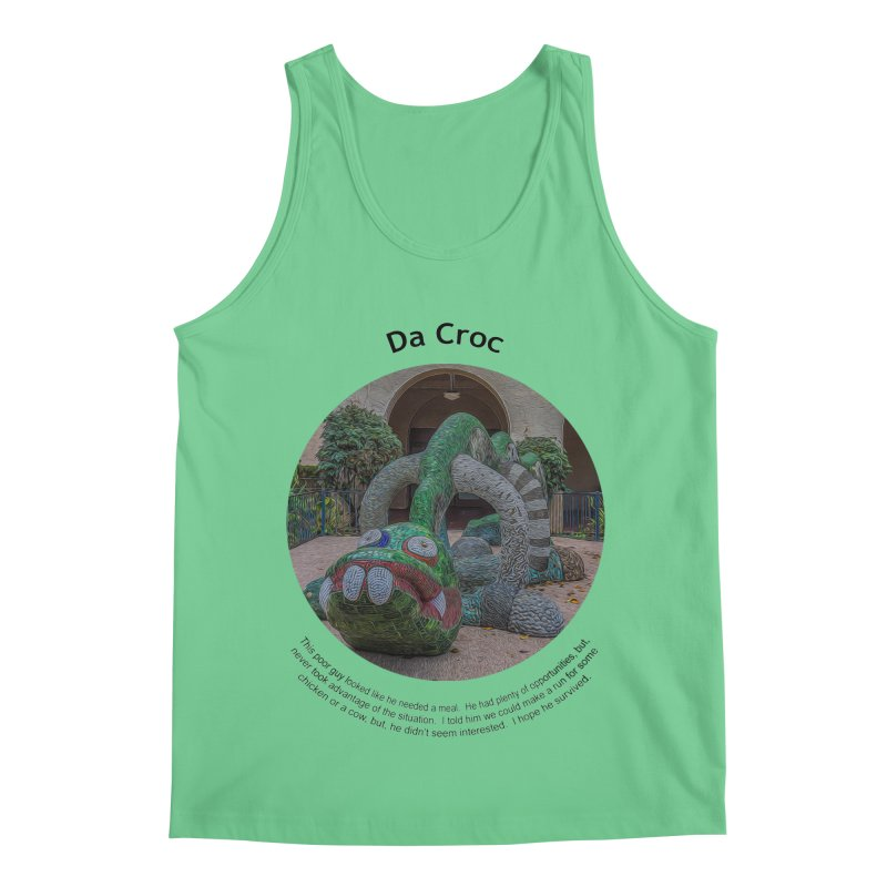 Da Croc Men's Regular Tank by Hogwash's Artist Shop