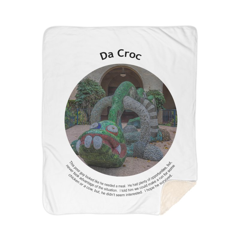 Da Croc Home Blanket by Hogwash's Artist Shop
