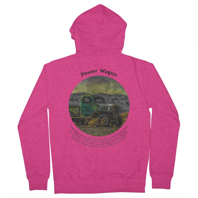 Power Wagon Women's Zip-Up Hoody by Hogwash's Artist Shop
