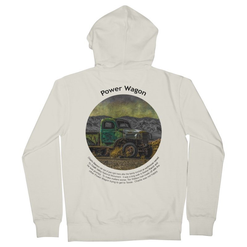 Power Wagon Women's French Terry Zip-Up Hoody by Hogwash's Artist Shop