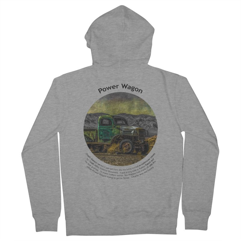 Power Wagon Men's Zip-Up Hoody by Hogwash's Artist Shop