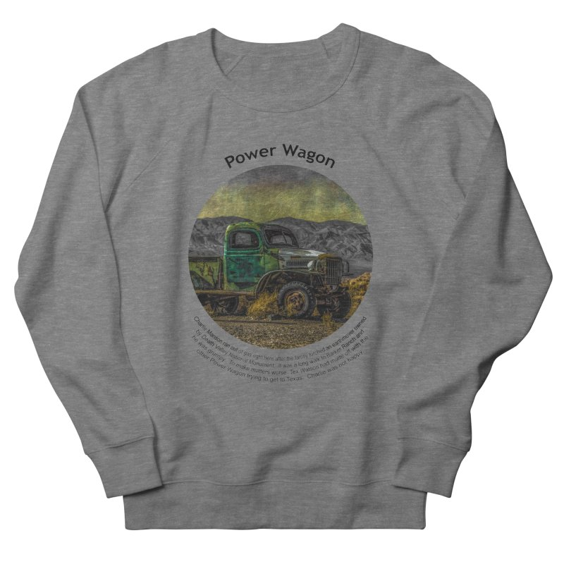 Power Wagon Men's French Terry Sweatshirt by Hogwash's Artist Shop