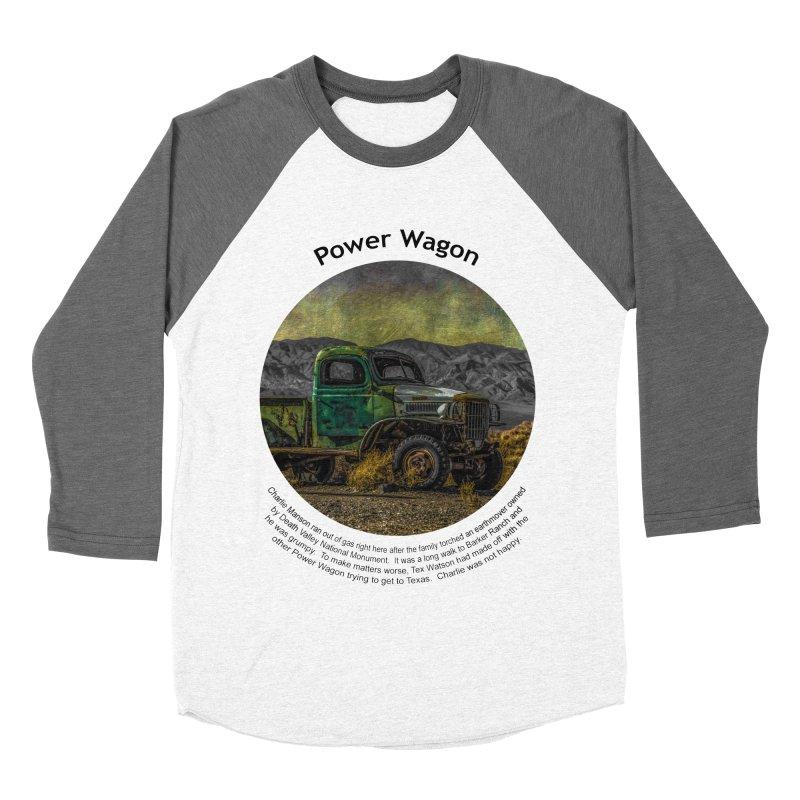 Power Wagon Women's Baseball Triblend Longsleeve T-Shirt by Hogwash's Artist Shop