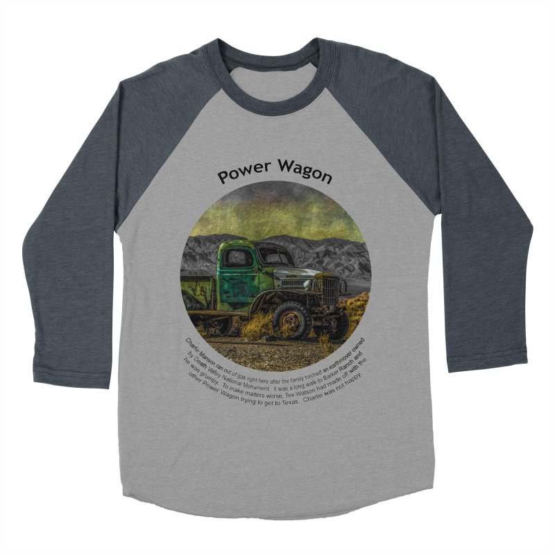 Power Wagon Women's Baseball Triblend Longsleeve T-Shirt by Hogwash's Artist Shop