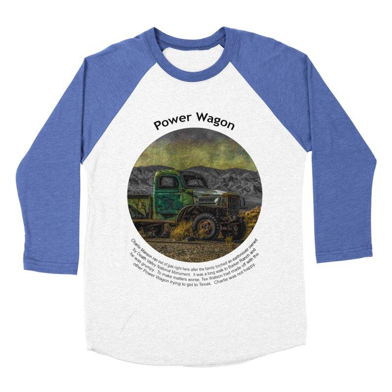 Power Wagon Men's Baseball Triblend T-Shirt by Hogwash's Artist Shop