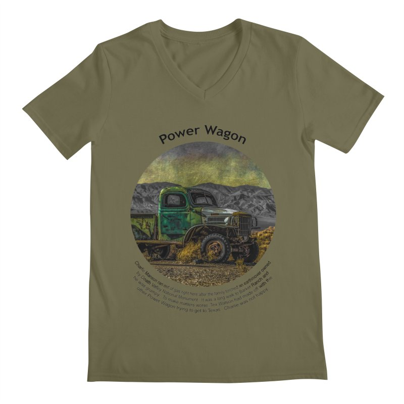 Power Wagon Men's V-Neck by Hogwash's Artist Shop