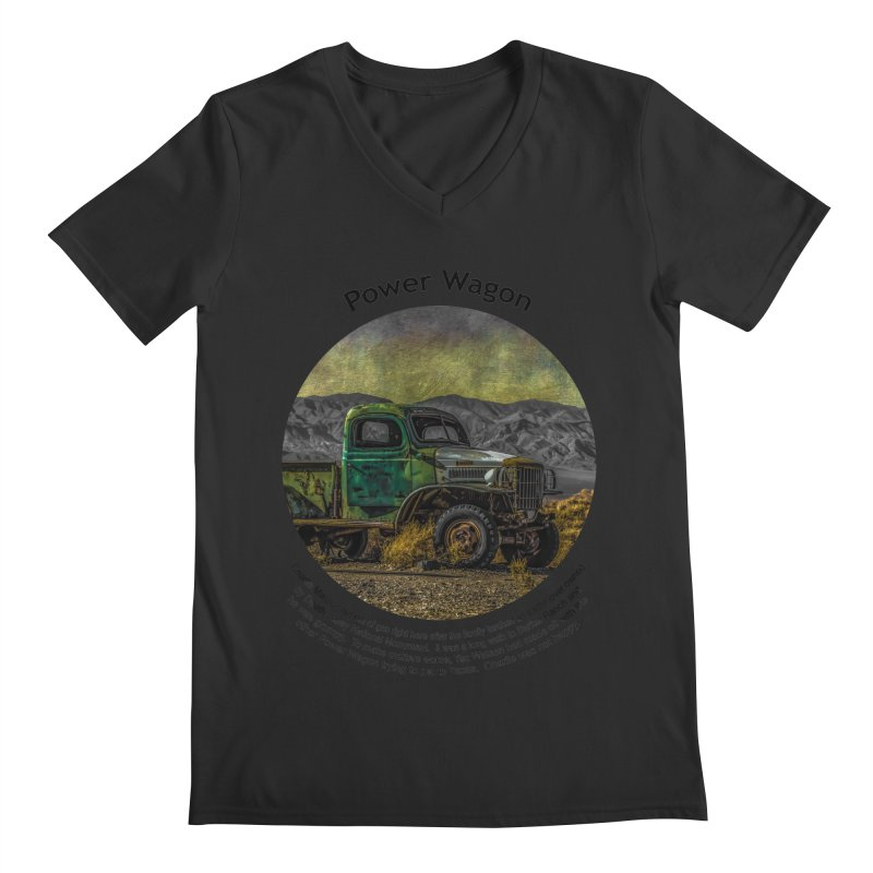 Power Wagon Men's Regular V-Neck by Hogwash's Artist Shop