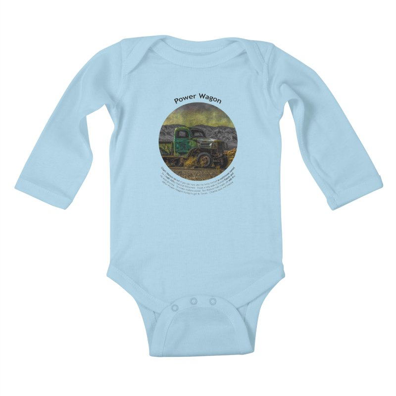Power Wagon Kids Baby Longsleeve Bodysuit by Hogwash's Artist Shop