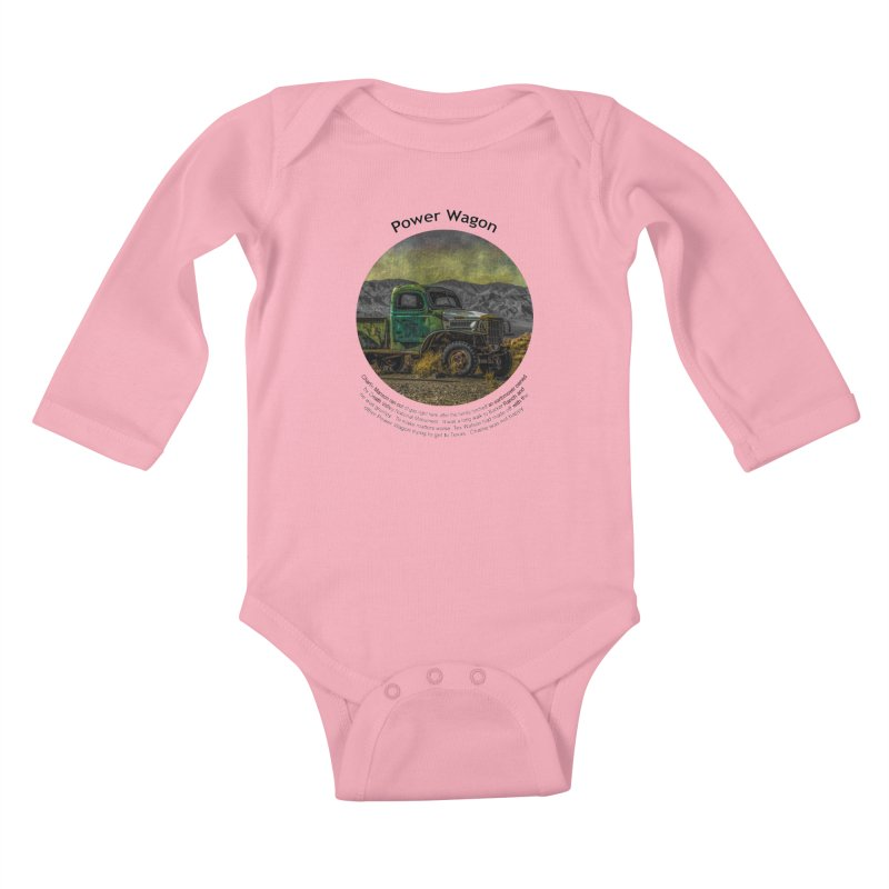 Power Wagon Kids Baby Longsleeve Bodysuit by Hogwash's Artist Shop