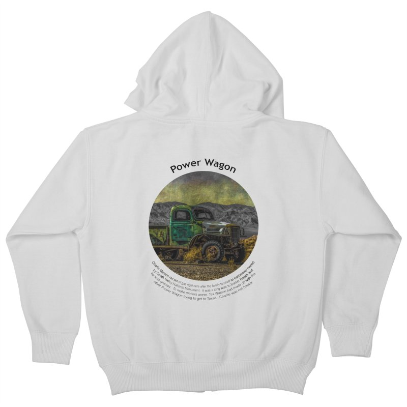 Power Wagon Kids Zip-Up Hoody by Hogwash's Artist Shop