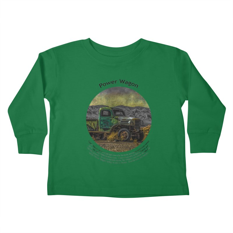 Power Wagon Kids Toddler Longsleeve T-Shirt by Hogwash's Artist Shop