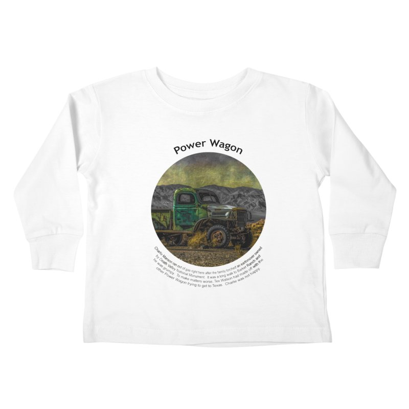 Power Wagon Kids Toddler Longsleeve T-Shirt by Hogwash's Artist Shop