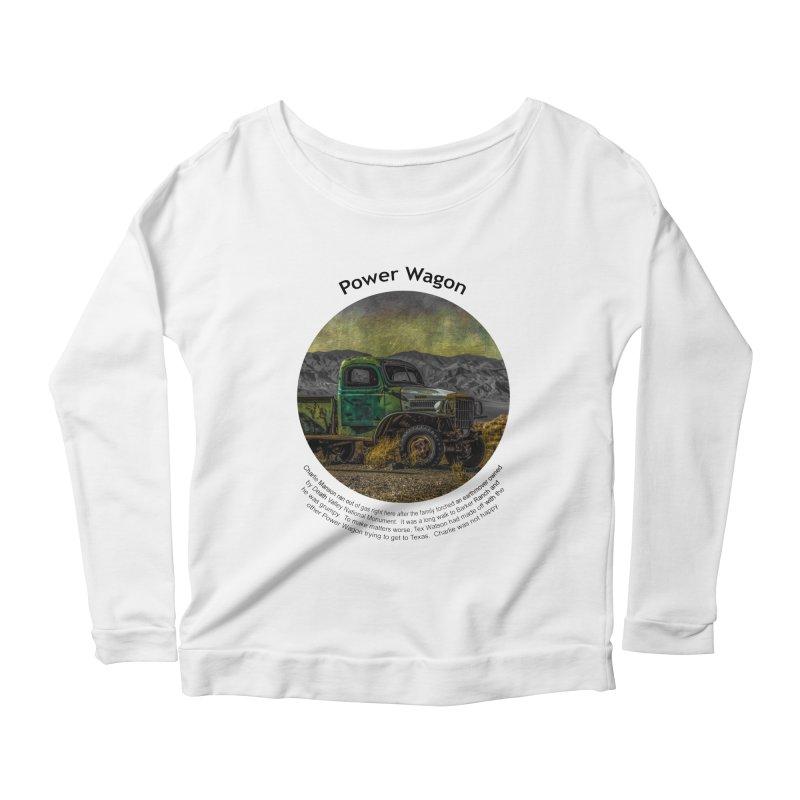 Power Wagon Women's Scoop Neck Longsleeve T-Shirt by Hogwash's Artist Shop