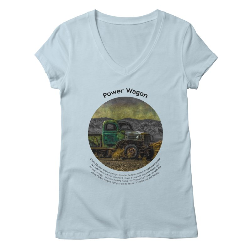 Power Wagon Women's V-Neck by Hogwash's Artist Shop